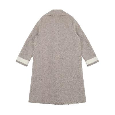 color point fluffy coat beige